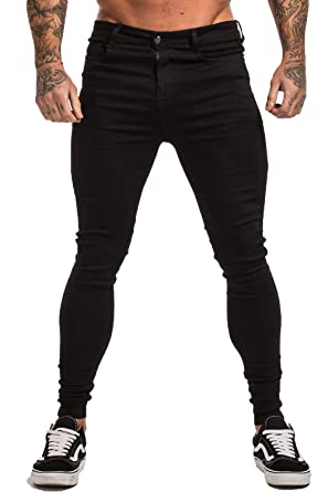 f5f5046bf202 GINGTTO Men's Ripped Jeans Slim Fit Skinny Stretch Jeans Pants at ...