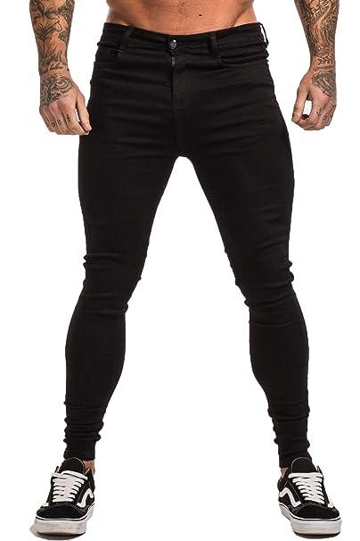Amazon.com: Gingtto Jeans rasgados para hombre, corte ...