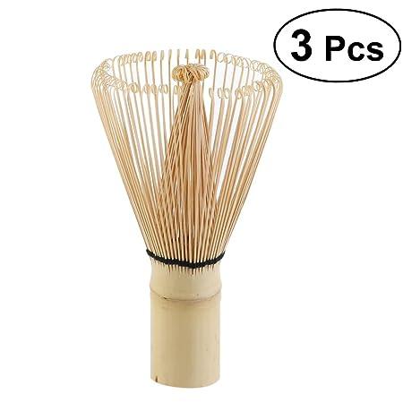 una Frusta di Bamb/ù per Matcha un Cucchiaino di Bamb/ù per Matcha e Porta Frusta di Bamb/ù per Matcha 4 Pezzi Beige - Comprendente una Tazza da T/è Matcha Confezione Regalo Tazza da T/è Matcha
