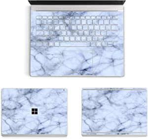 """MasiBloom 3 in 1 Laptop Sticker Decal for 13.5"""" 13 inch Microsoft Surface Book 2015 Released Protective Cover Skin (for 13.5"""" Surface Book (2015 Released), Decal- Marble Blue)"""