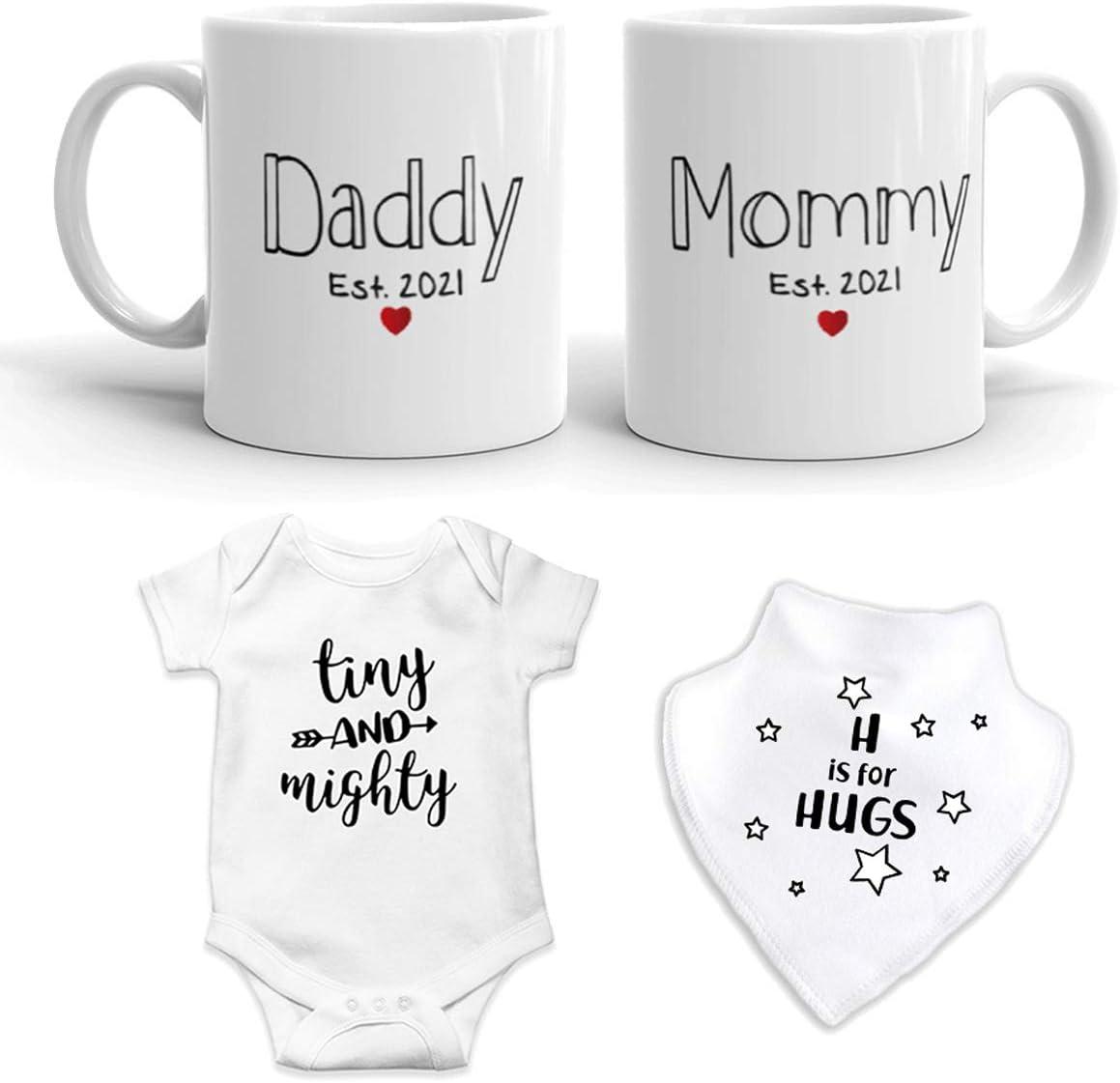 New Mommy /& Daddy 11 oz Mug Heart Mug Set EST 2020 Pregnancy Gifts Top Parents Gift Mug Gift Set