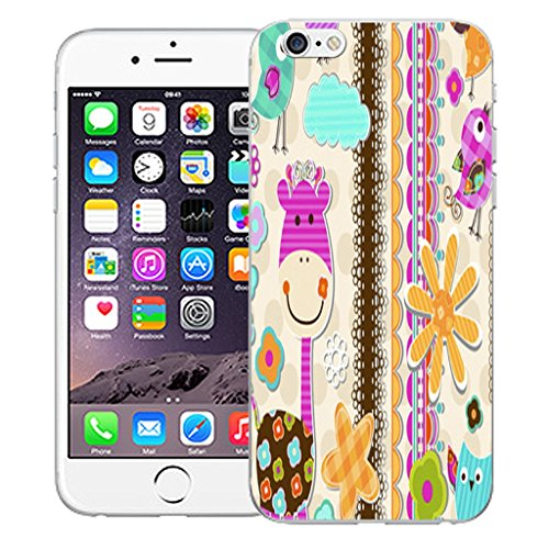 """Mobile Case Mate iPhone 6S 4.7"""" Silicone Coque couverture case cover Pare-chocs + STYLET - Girrafe pattern (SILICON)"""