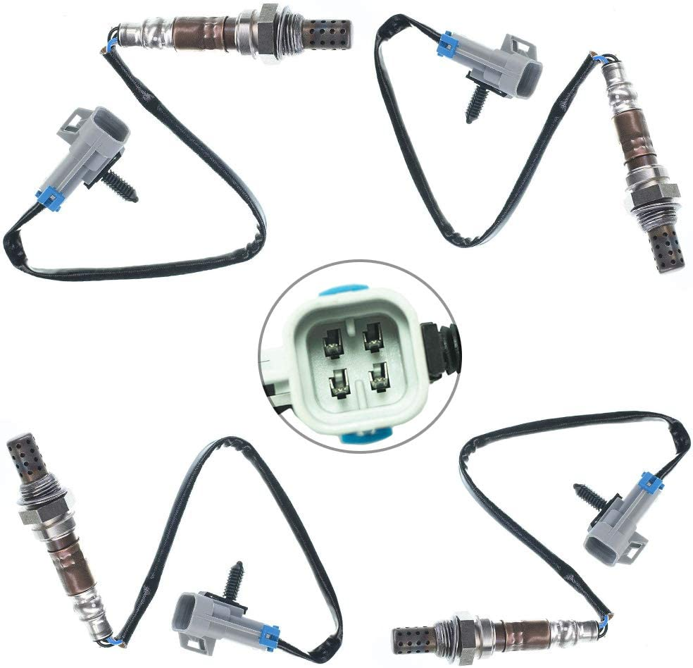 Oxygen Sensor for Chevy Silverado Tahoe Savana Sierra C1500 C2500 C3500 Express Upstream Downstream Position Oxygen Sensor Replacment OE # Bosch 13474 Denso 234-4018 234-4012