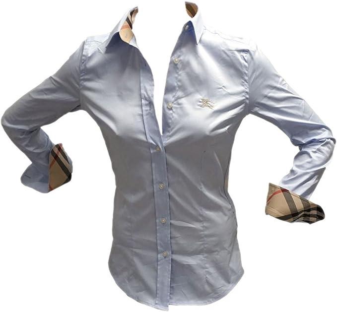 BURBERRY - Camisas - para mujer Iceblue 46: Amazon.es: Ropa y accesorios