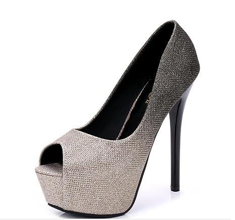 ZCH nuove scarpe tacchi super high testa pesce tacchi Fine con donna scarpe / scarpe da festa , 35