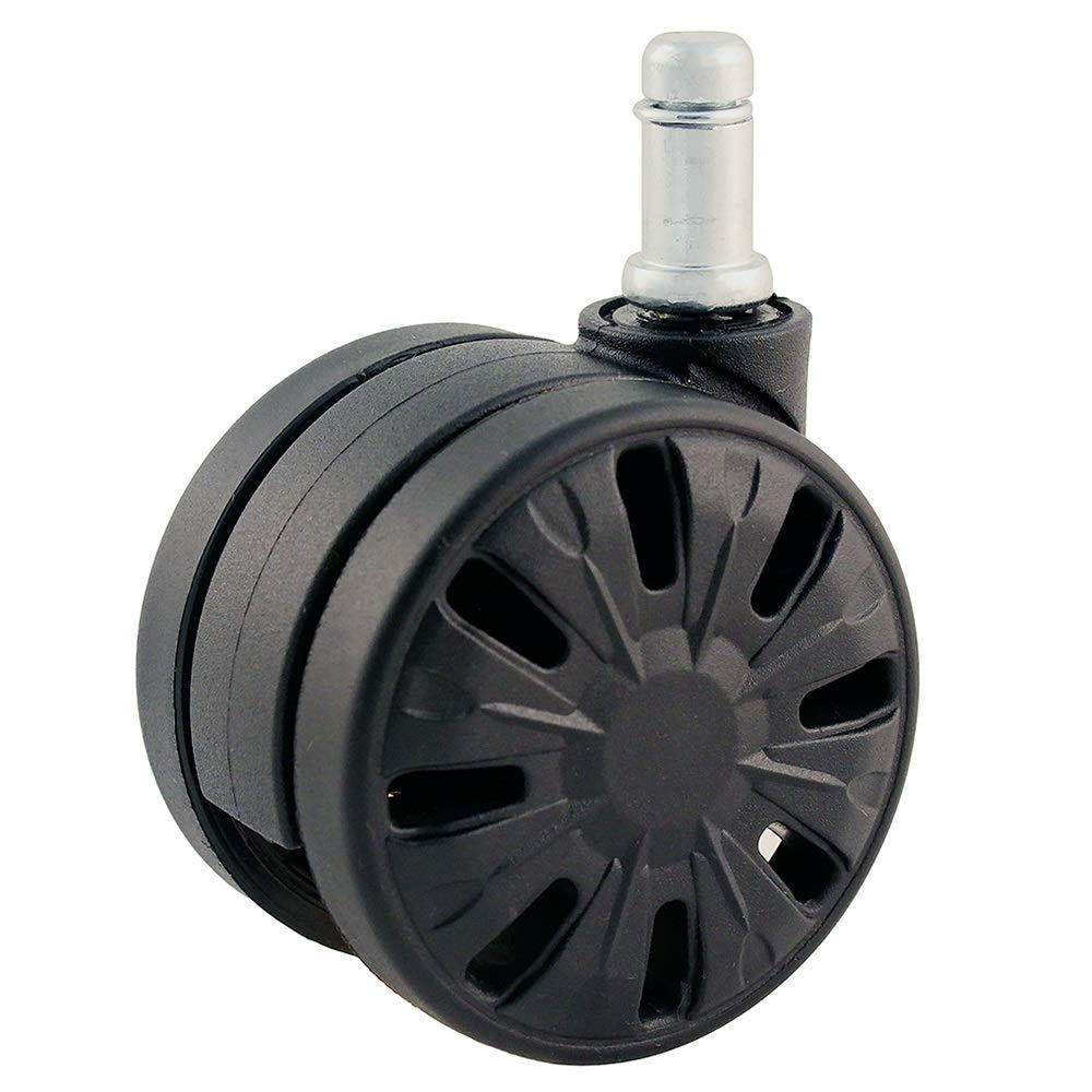 laminato /Kit di ricambio ruota girevole/ /nero pavimento/ /Set di 5/ /no Mark su parquet Heavy Duty ruotare Gaming Chair/