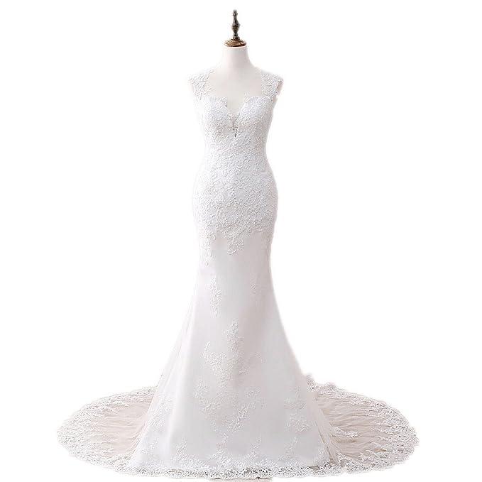 Color blanco marfil novia vestidos 2017 elegante de sirena diseño de mujer niña para vestido de