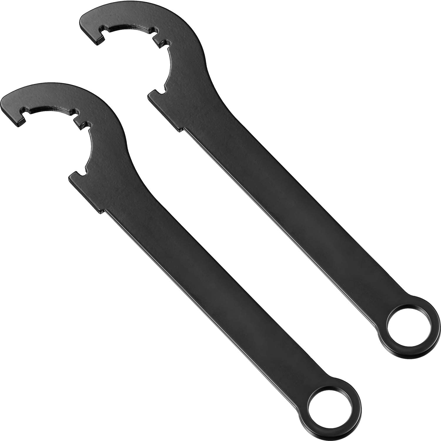 2 Pieces Survival Nut Wrench Spanner Nut Wrench Locknut Wrench C Spanner Hook Wrench Carbon Steel Survival Wrench Tool for Locknut Unscrew and Reinstall