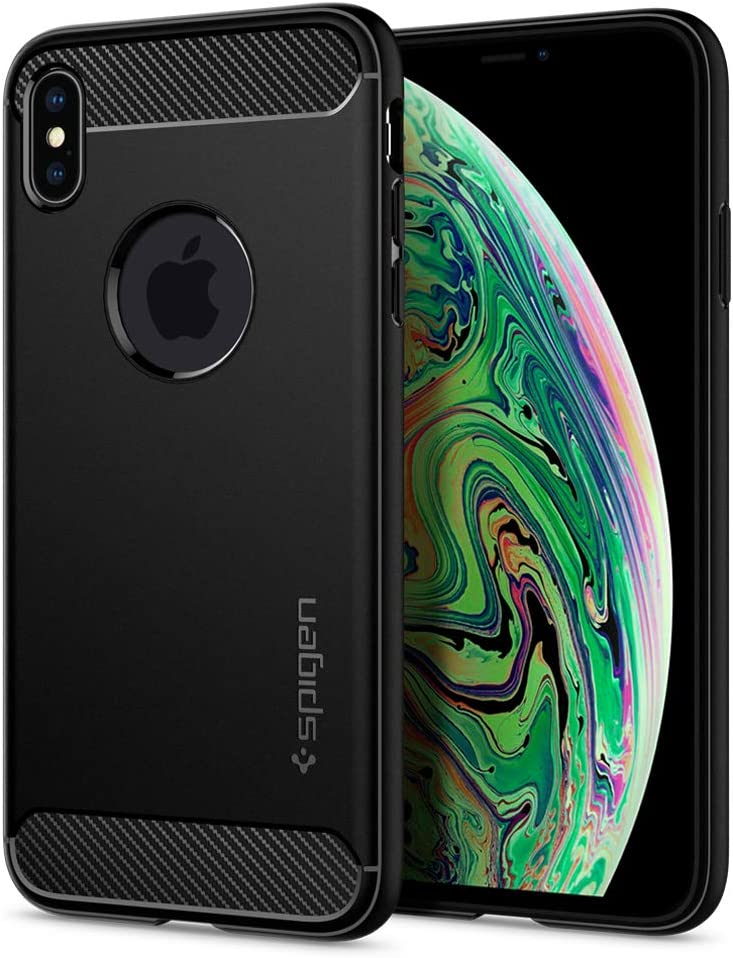 Spigen Rugged Armor Designed for iPhone Xs MAX Case (2018) - Matte Black