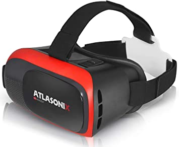 Amazon Com Vr Headset Compatible With Iphone And Android Phones Virtual Reality Goggles Comfortable Adjustable Glasses With Full Eye Protection Play Your Best Mobile 3d Games Gift For