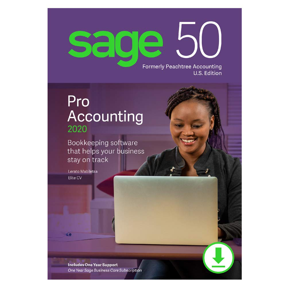 Sage 50 Pro Accounting 2020 U.S. [PC Download] by Sage Software