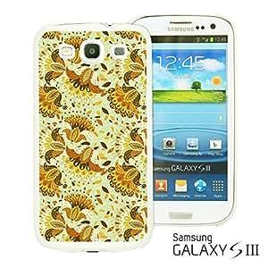 OnlineBestDigital - Flower Pattern Hardback Case for Samsung Galaxy S3 III I9300 - Beauty Brown Floral Pattern