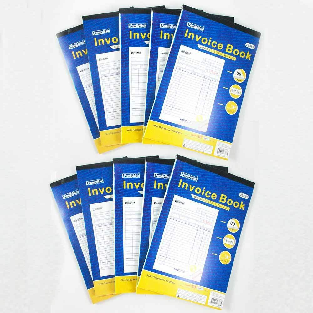 10 Carbonless Invoice Receipt Record Book 2 Part 50 Sets Duplicate Receipt New by Eravade
