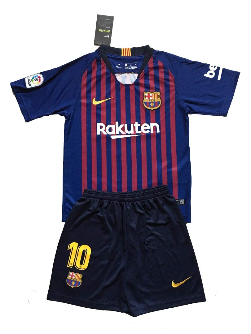 buy popular 78fd2 1f554 FC Barcelona 2018-19# 10 Lionel Messi Home Youths Football Soccer Kids  Jersey & Short