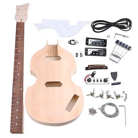 yibuy arce DIY 4 cuerdas Guitarra eléctrica BBT Bass cuerpo cuello diapasón pastilla Humbucker para guitarra
