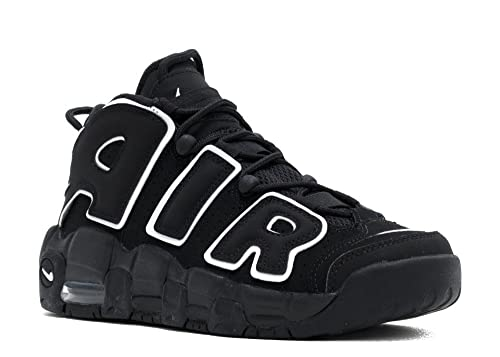 NIKE AIR MORE UPTEMPO BLACK WHITE GS - 415082-002 - SIZE 7