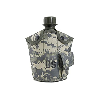 1L US Army Aluminum Canteen Water Bottle Hiking Camping Nylon Cover ACU