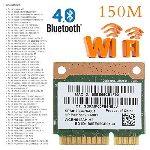 Brolux(TM) 802.11b / g / n WiFi Bluetooth tarjeta PCI-E 4.0 ...