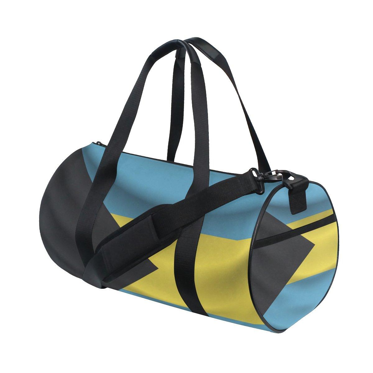 Bahamas Flag Travel Duffel Shoulder Bag ,Sports Gym Fitness Bags