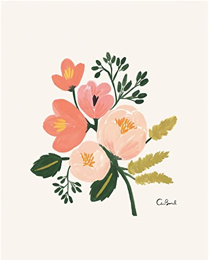 Rifle Paper Botanical Print Rose Amazon Co Uk Sports