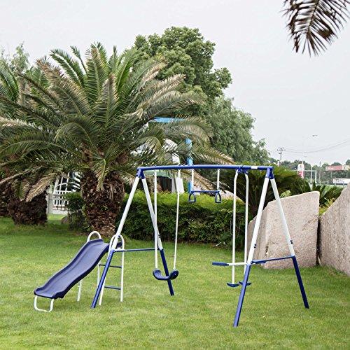 outdoor swing set slide - 1