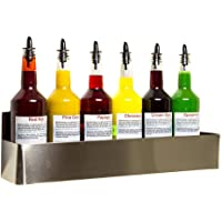 BarBits Speed Rail 22Inch - Holds Up to 6 x 1 litres Bottles, Stainless Steel Bar Speed Rail Holder