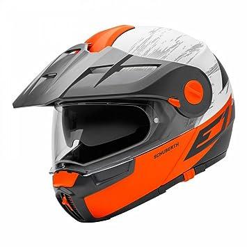 Schuberth E1 Crossfire Naranja Motocicleta Casco