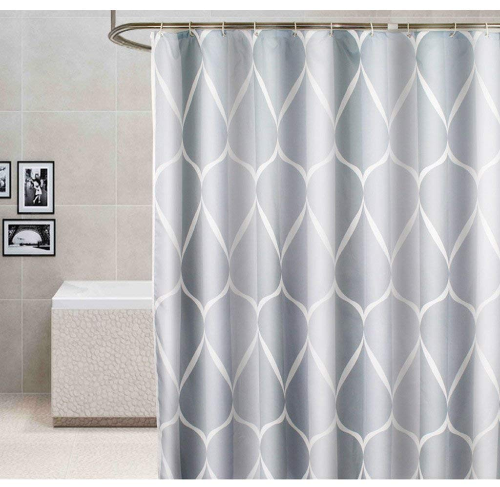 JaHGDU Shower Curtain Waterproof and Mildew-reducing Environmental Protection Bathroom Partition Polyester Padded Shower Curtains Send Hook (Color : 240CM wide200CM high)