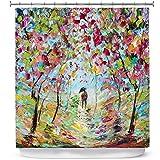 walk in shower dimensions Dia Noche Designs Bathroom Shower Curtains by Karen Tarlton - Walk in The Park