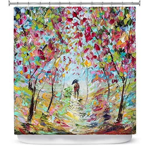 Dia Noche Designs Bathroom Shower Curtains by Karen Tarlton - Walk in The Park