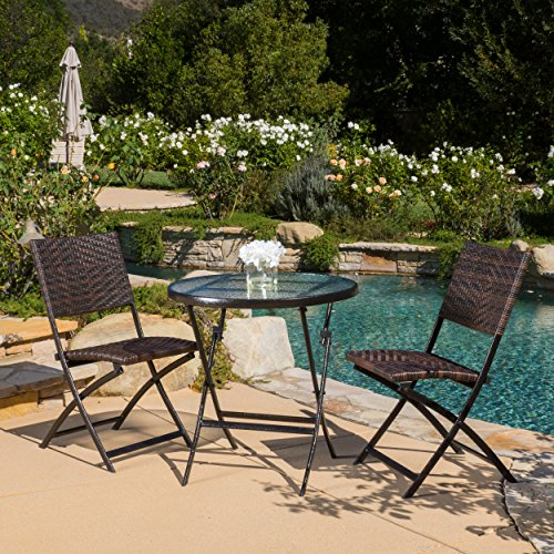 Best Selling Brent Folding Table and Chair Set (Set of 3) (Patio Furniture El Paso)