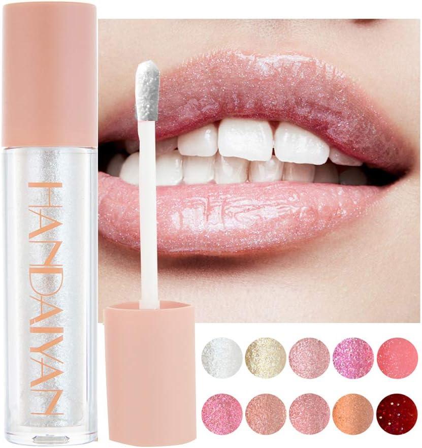 GL-Turelifes Brillo de labios Brillo Brillo Lápiz labial líquido Brillo de labios a prueba de agua Hidratante, de larga duración, copa antiadherente ...
