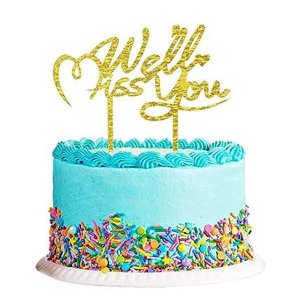 Amazon.com: Decoración para tarta con purpurina dorada de ...