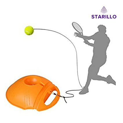 Starillo Tennis Training Tool Exercise Tennis Ball Self Study Rebound With Tennis Trainer Baseboard Amazon In Musical Instruments