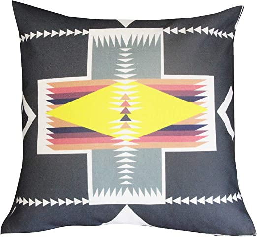 BreezyLife Aztec Throw Pillow Cover Tribal Decorative Pillow Case Ethnic Accent Pillow for Sofa Couch Farmhouse Cottage Outdoor 18x18