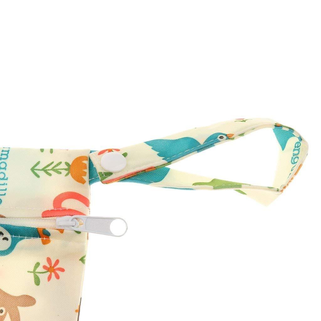 Power ferhd Baby wasserdicht Rei/ßverschluss Tasche waschbar wiederverwendbar Baby Tuch Windel Tasche von BBYU