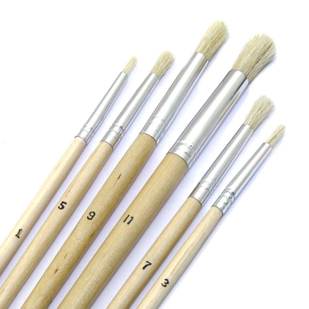 Pinsel Set 6tlg. rund Holzstiel Malpinsel Kü nstlerpinsel Haarpinsel sonstige