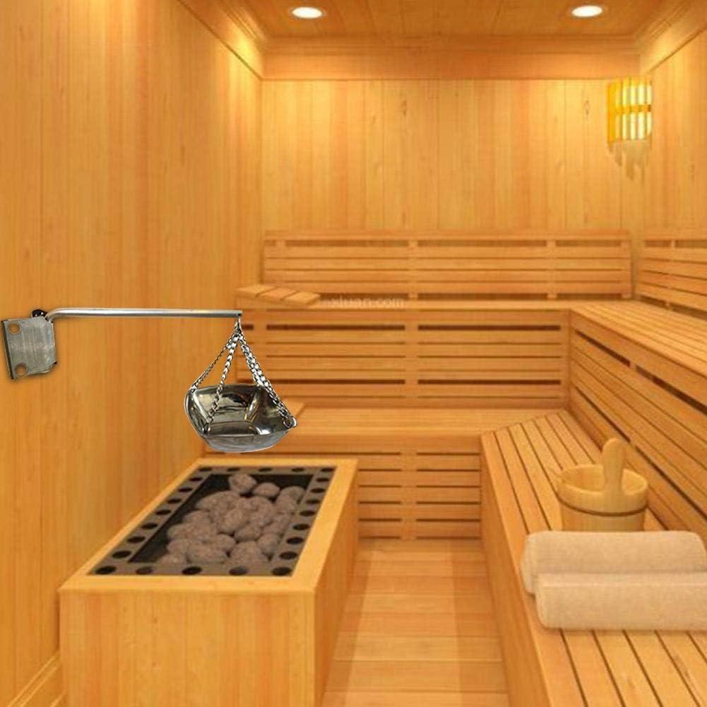 Goodtimera 7L Saunaset Komplettset Mit Langstieligem L/öffel Saunazubeh/ör Sauna Aromatherapie/öl Cup Kit Sanduhr Thermometer//Hygrometer Wonderful