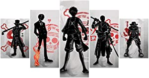 Jackethings One Piece Poster Anime Characters Prints on Canvas Unframed Wall Decoration for Home Living Room Club Decor