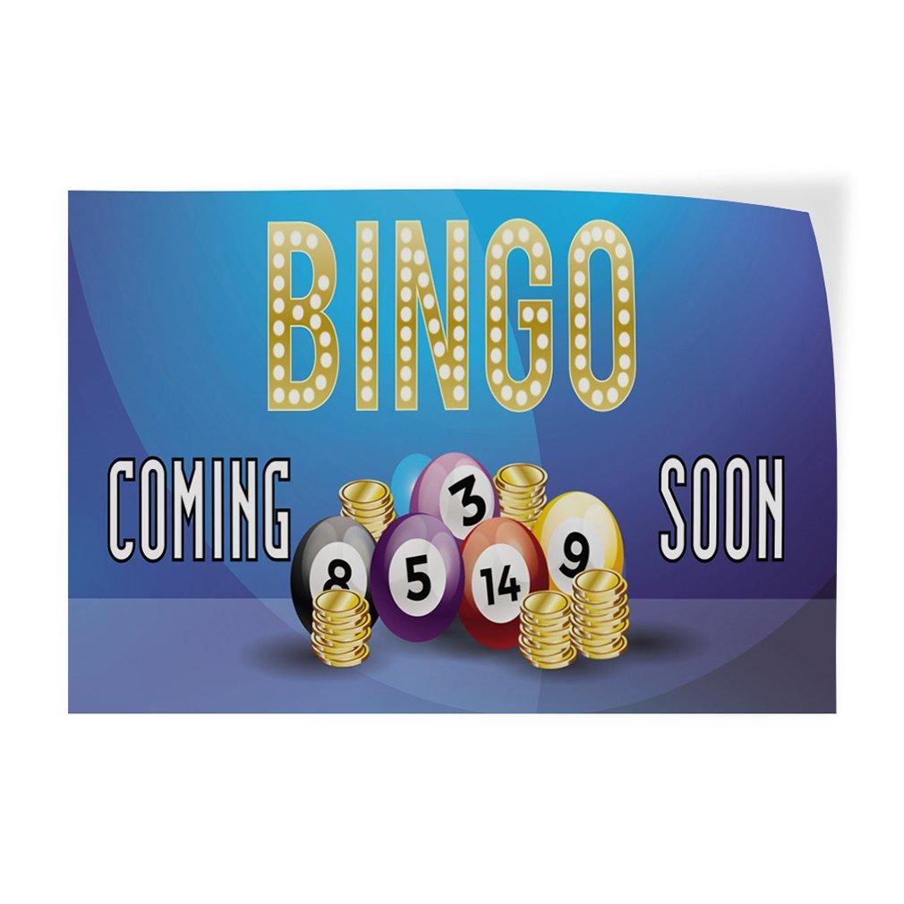 Bingo Coming Soon #1 Indoor Store Sign Vinyl Decal Sticker - 19.5inx48in, by Sign Destination