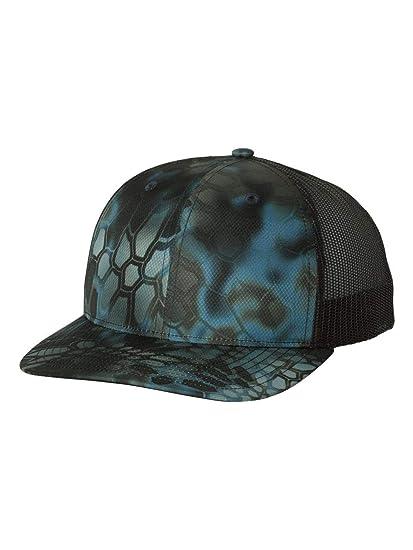 abd17a9d7975d Richardson 112P Kryptek Neptune Black Structured Snap Back Trucker Hat