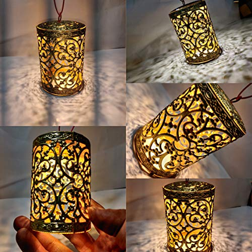 avenger Ceiling Light LAMP with Lght for Diwali Decoration (PACKOF Five) (Gold)