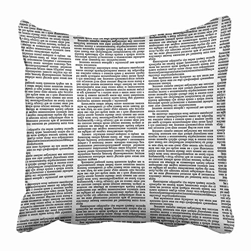 Emvency Decorative Throw Pillow Covers Cases News Newspaper Columns Text in Page Unreadable Black White Torn Magazine Newsprint Press 16x16 inches Pillowcases Case Cover Cushion Two Sided