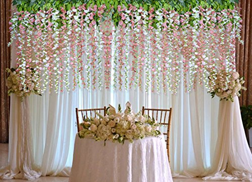 12 Pack 3 6 Feet Piece Artificial Fake Wisteria Vine Ratta