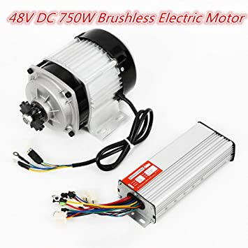 750W 48V Brushless Electric Motor Controller 600 RPM for DIY tricycle E-bikes US