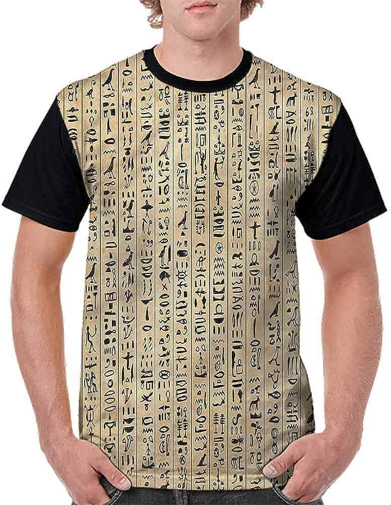 BlountDecor Trend t-Shirt,Ancinet Hieroglyphs Fashion Personality Customization