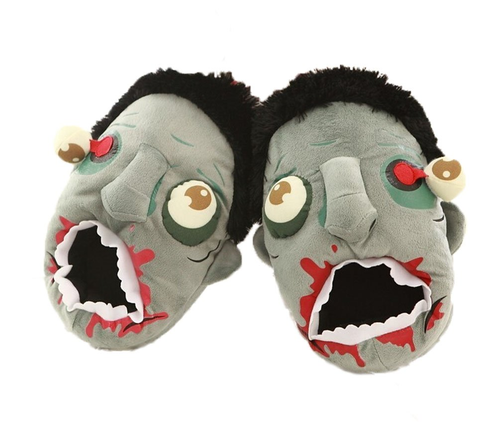 Zombie Slippers Halloween Plush Cotton House Slippers Shoes