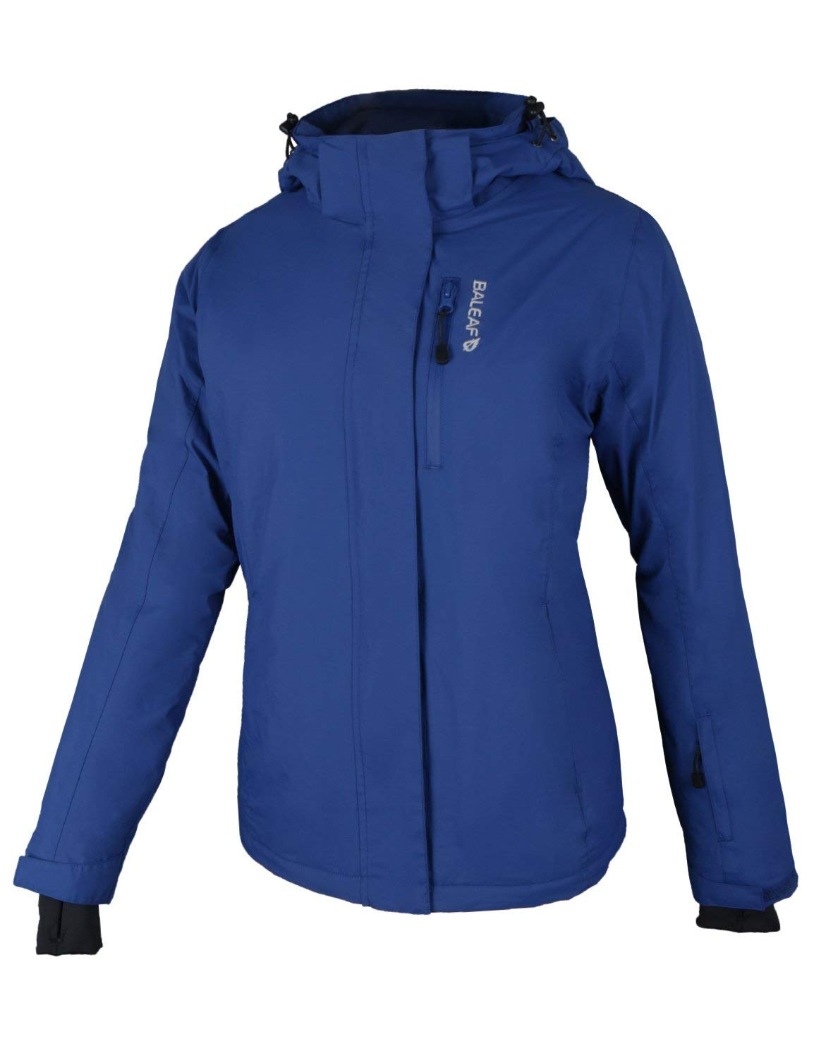 BALEAF Womens Insulated Ski Jackets Waterproof Breathable Mountain Hooded Winter Jacket for Skiing, Hunting Navy Size 3XL by BALEAF