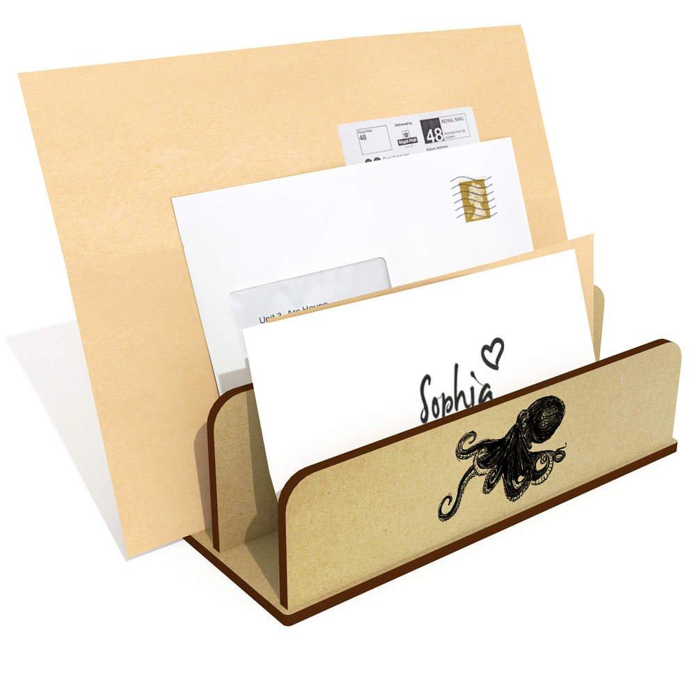Azeeda Octopus Wooden Letter Rack Holder LH00014082