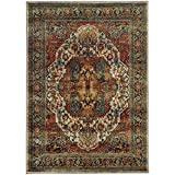 "Cheap Oriental Weavers 6382B Sedona Collection Area Rug, 2'3 x 7'6″"""